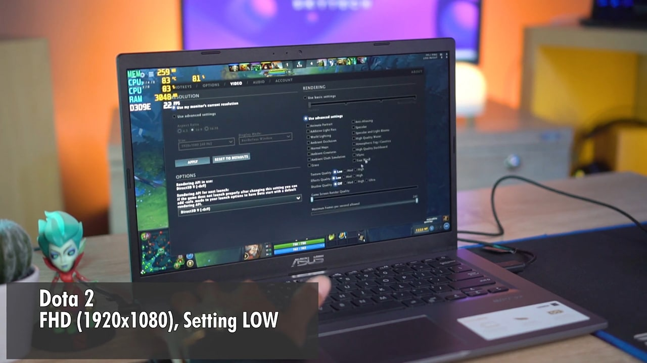 Performa Asus A416MA Gaming Test